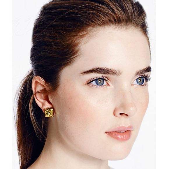 5d1fca7b67e4 kate spade Jewelry | Small Square Studs Gold Glitter | Poshmark